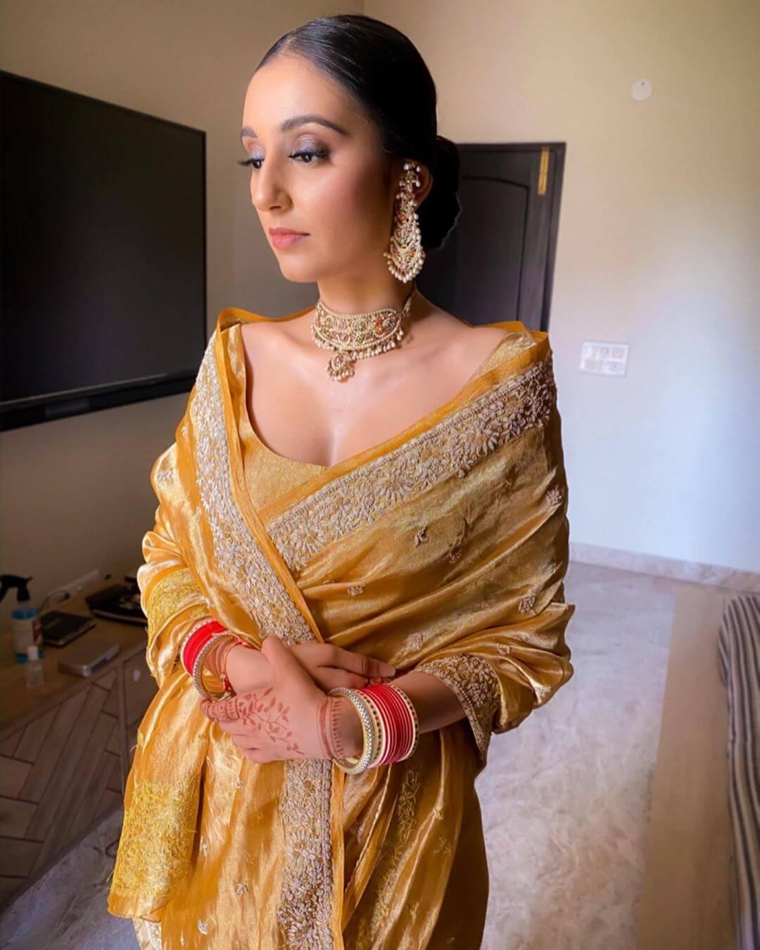 minimal bridal look
