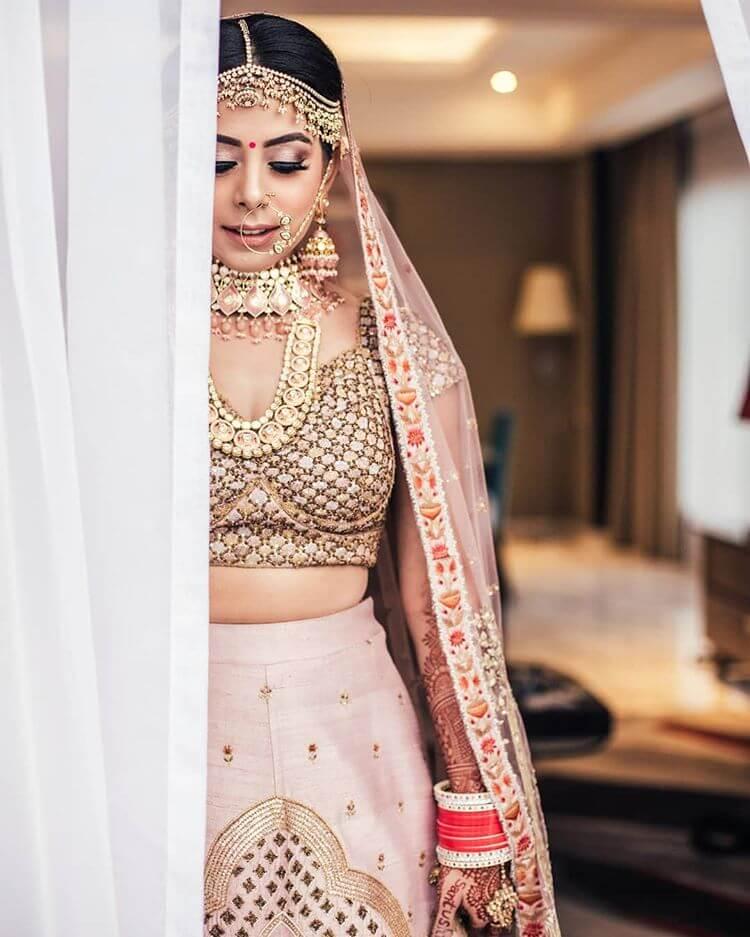 pink bridal jewellery