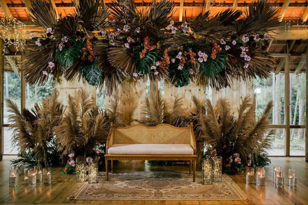 Bohemian wedding stage decoration