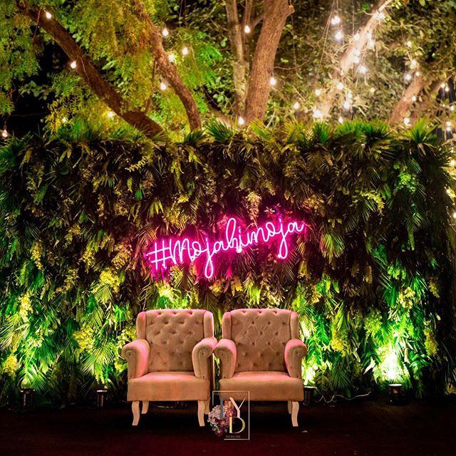 Jungle Themed Stage Setup