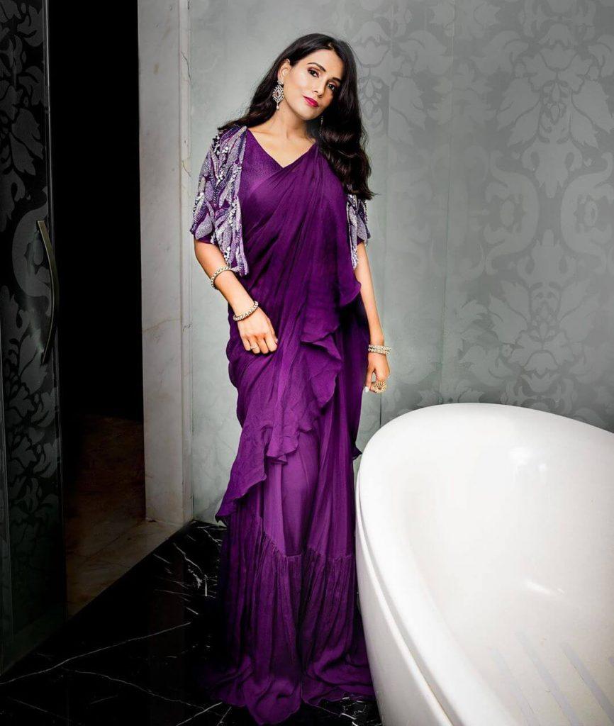 draped sarees