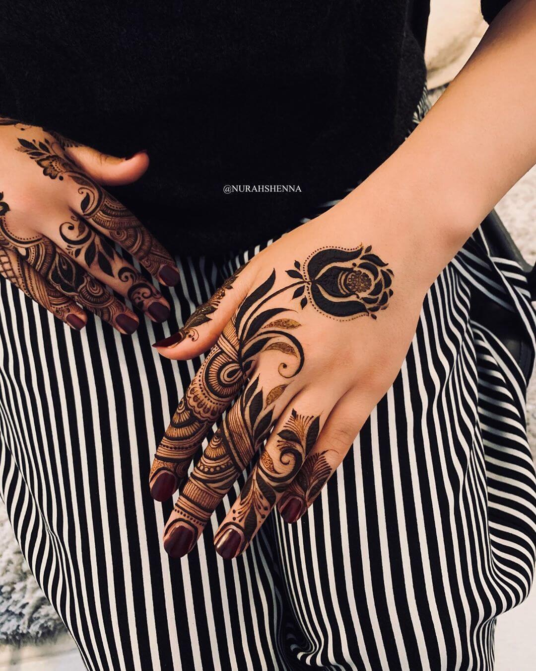 back hand arabic mehndi