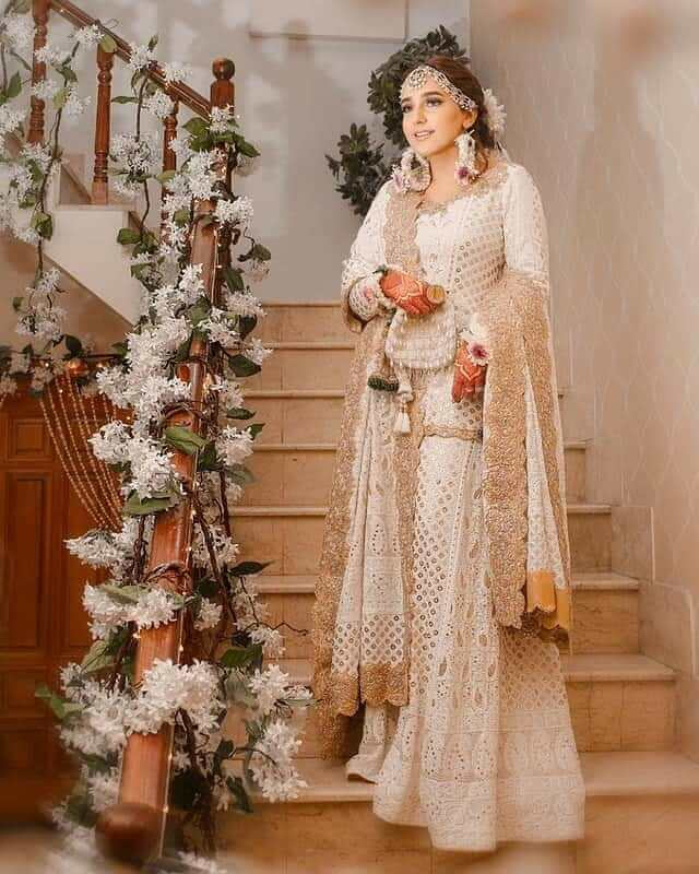 chikankari bridal outfits