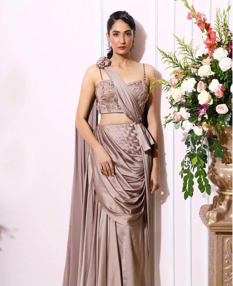 bridal draped saree