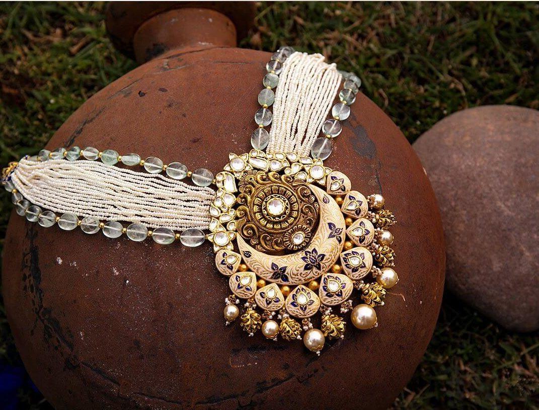 meenakari necklace