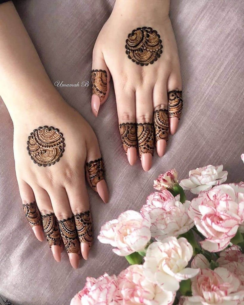 simple small mehndi design
