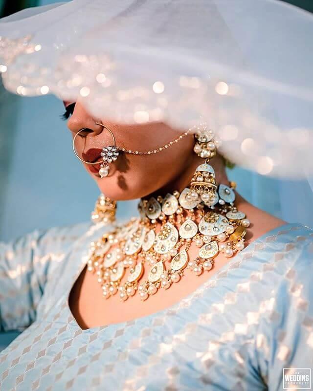 pastel meenakari necklace