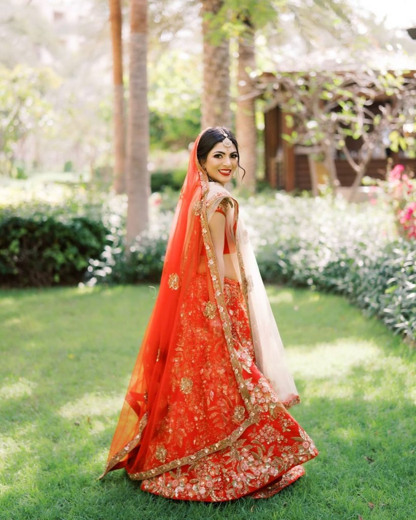 red bridal trends