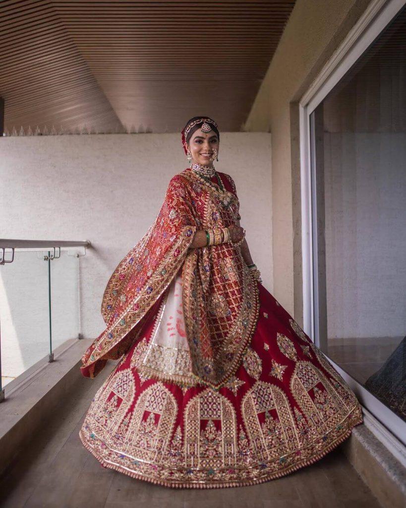 red bridal lehenga ideas