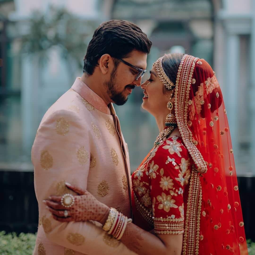 pink sherwani