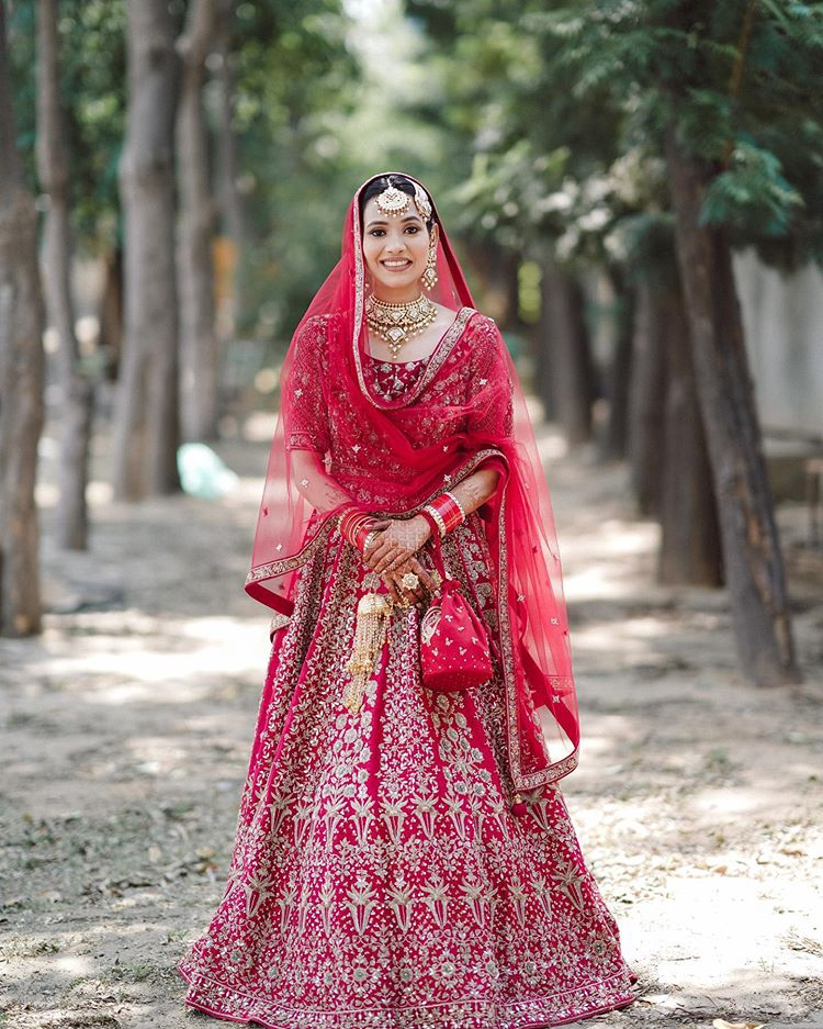 red bridal outfits