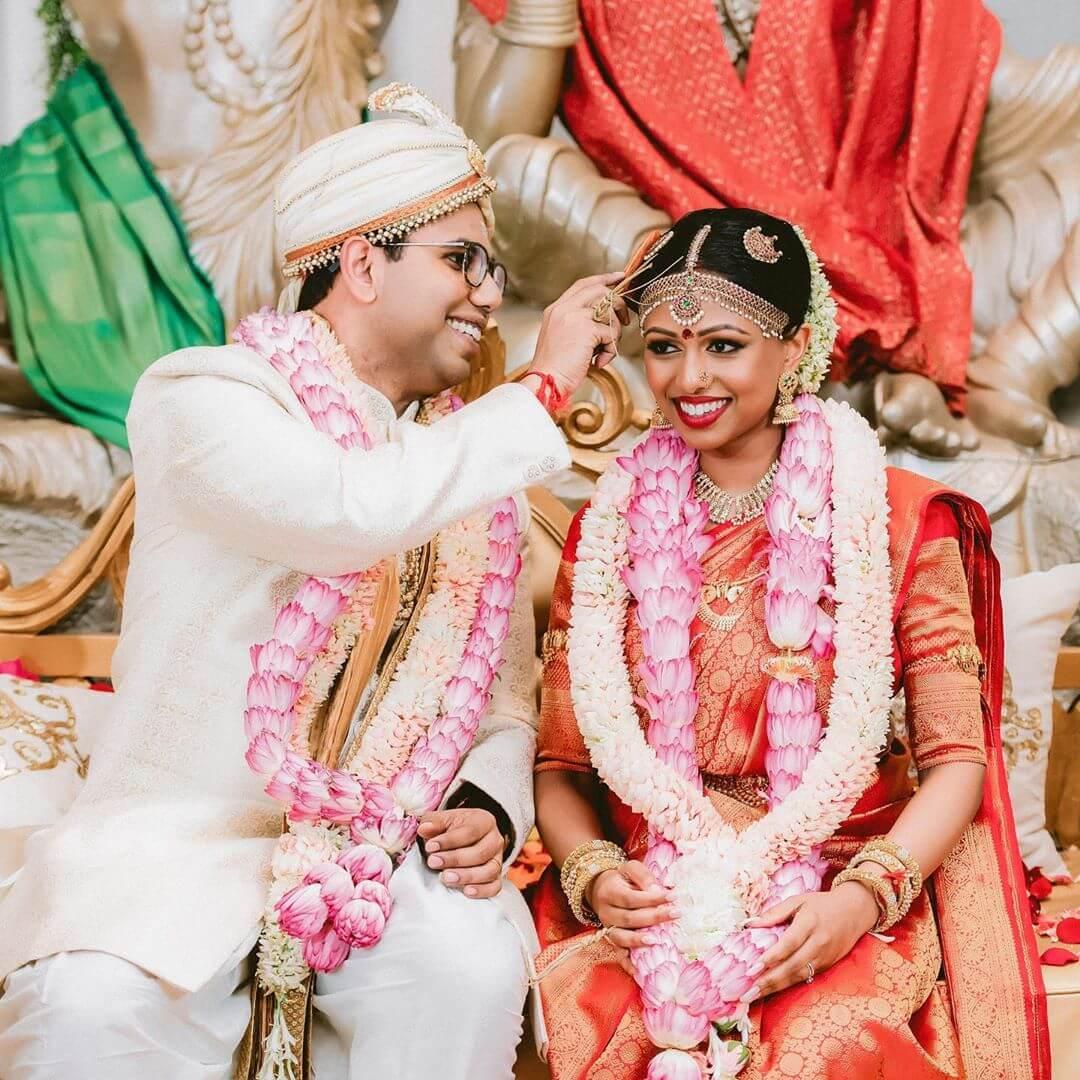 South Indian wedding garland