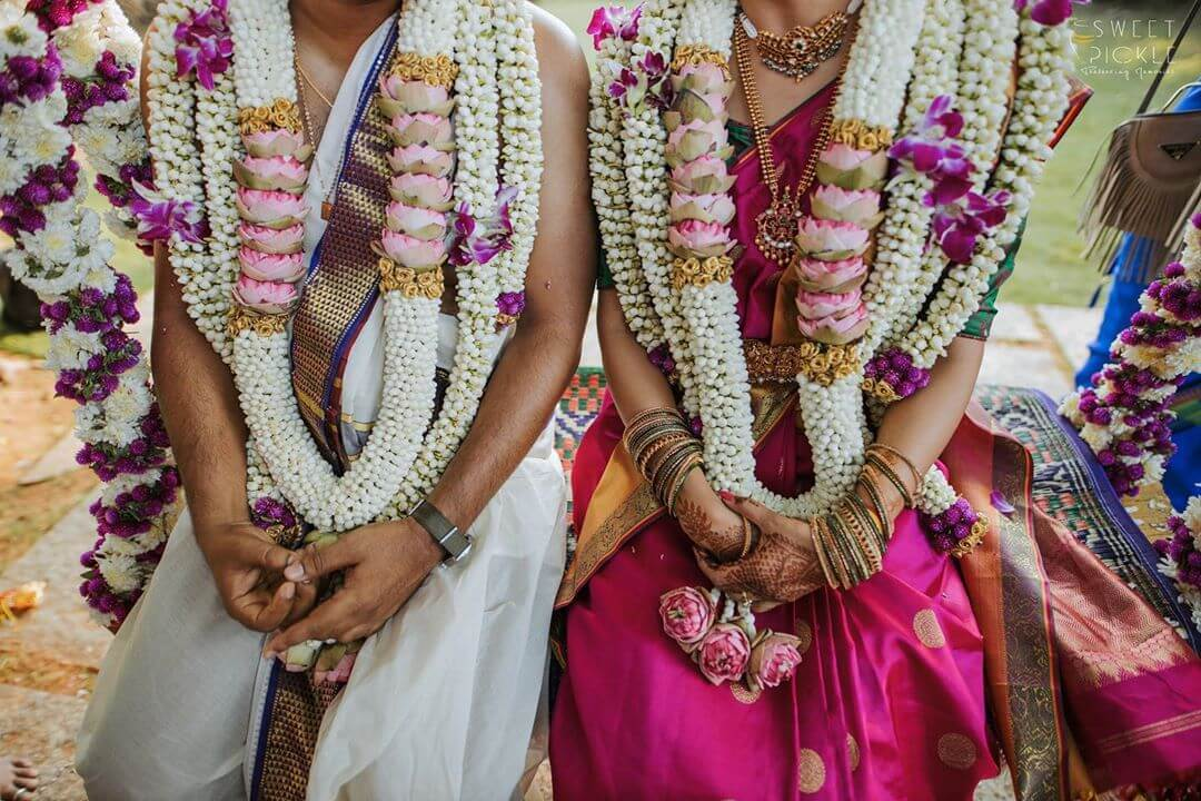 South Indian wedding garlands