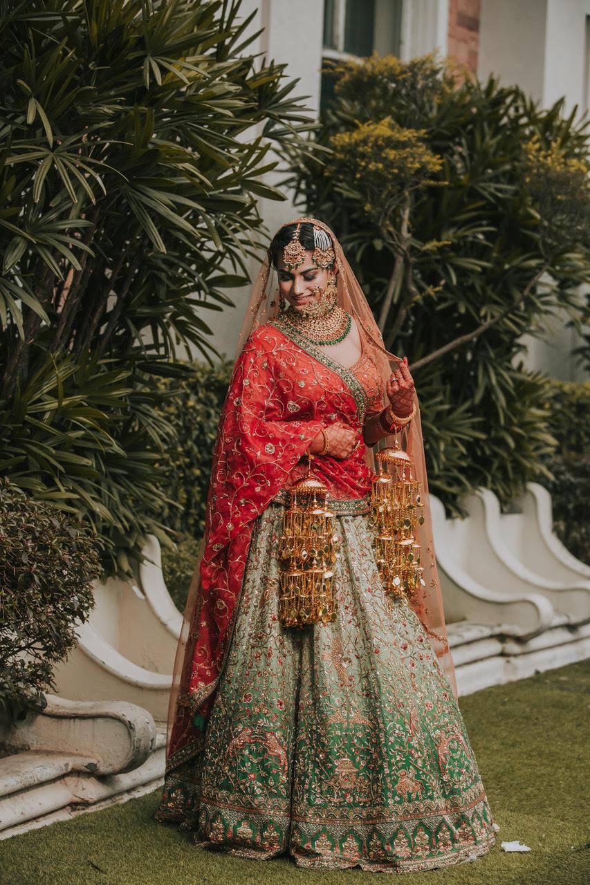 personalised bridal lehenga