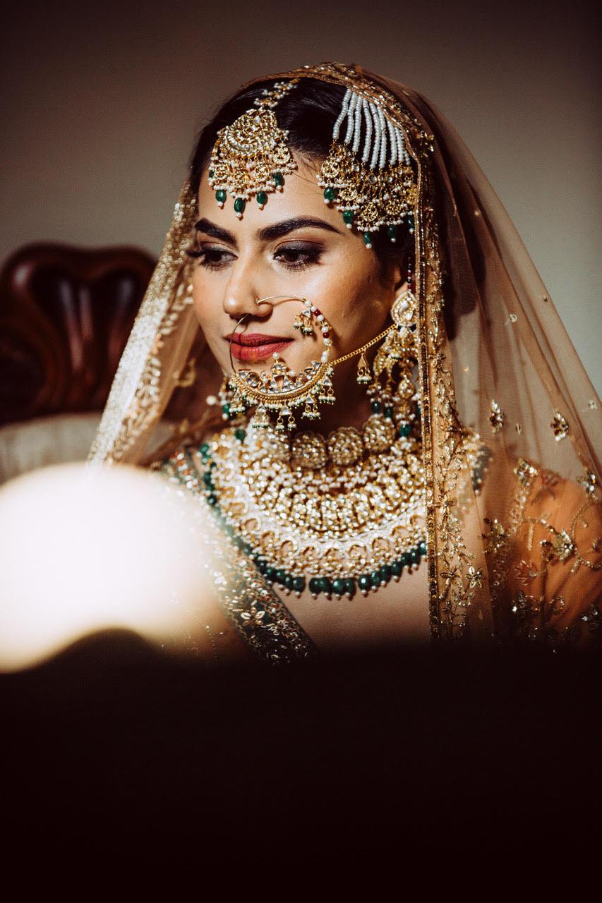 bridal jewellery, sikh bride