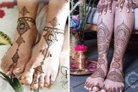 bridal foot mehndi designs