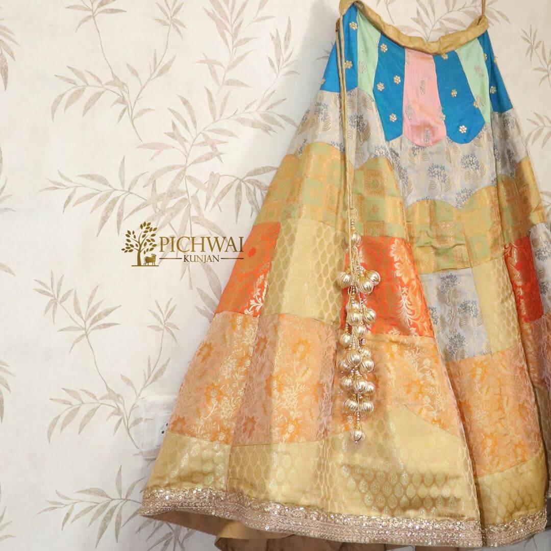 banarasi patchwork lehenga