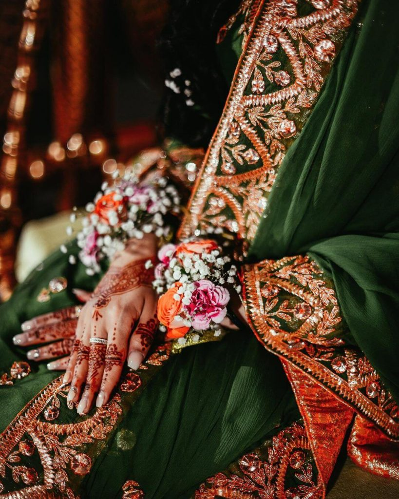 bridal floral accessories