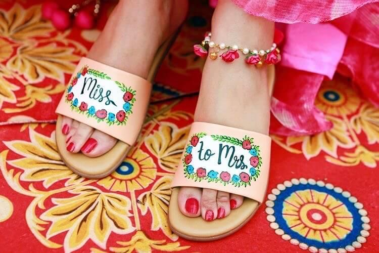 Hand Painted Wedding Footwear
