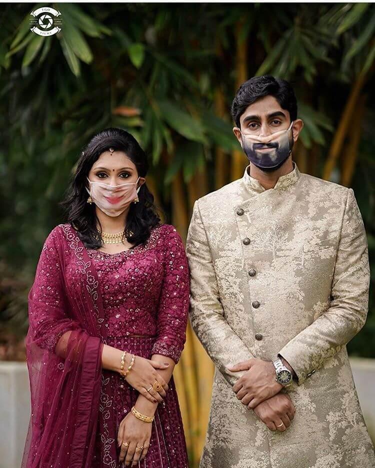 personalised wedding masks