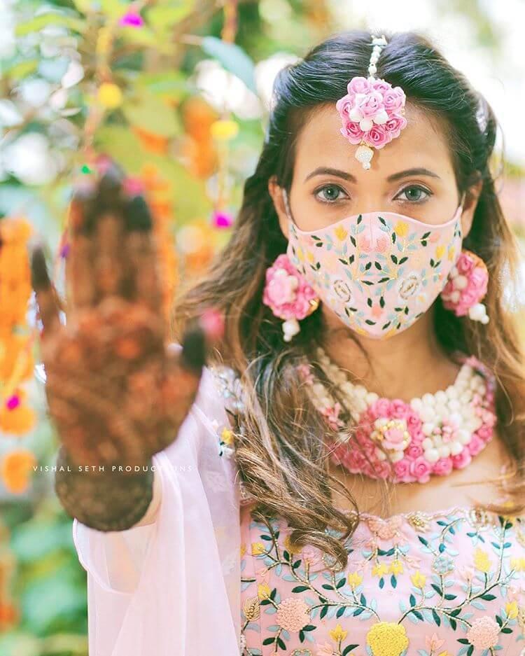 floral embroidered masks