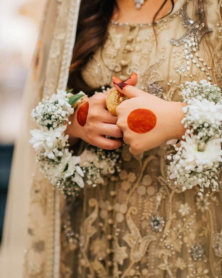 floral bridal jewellery