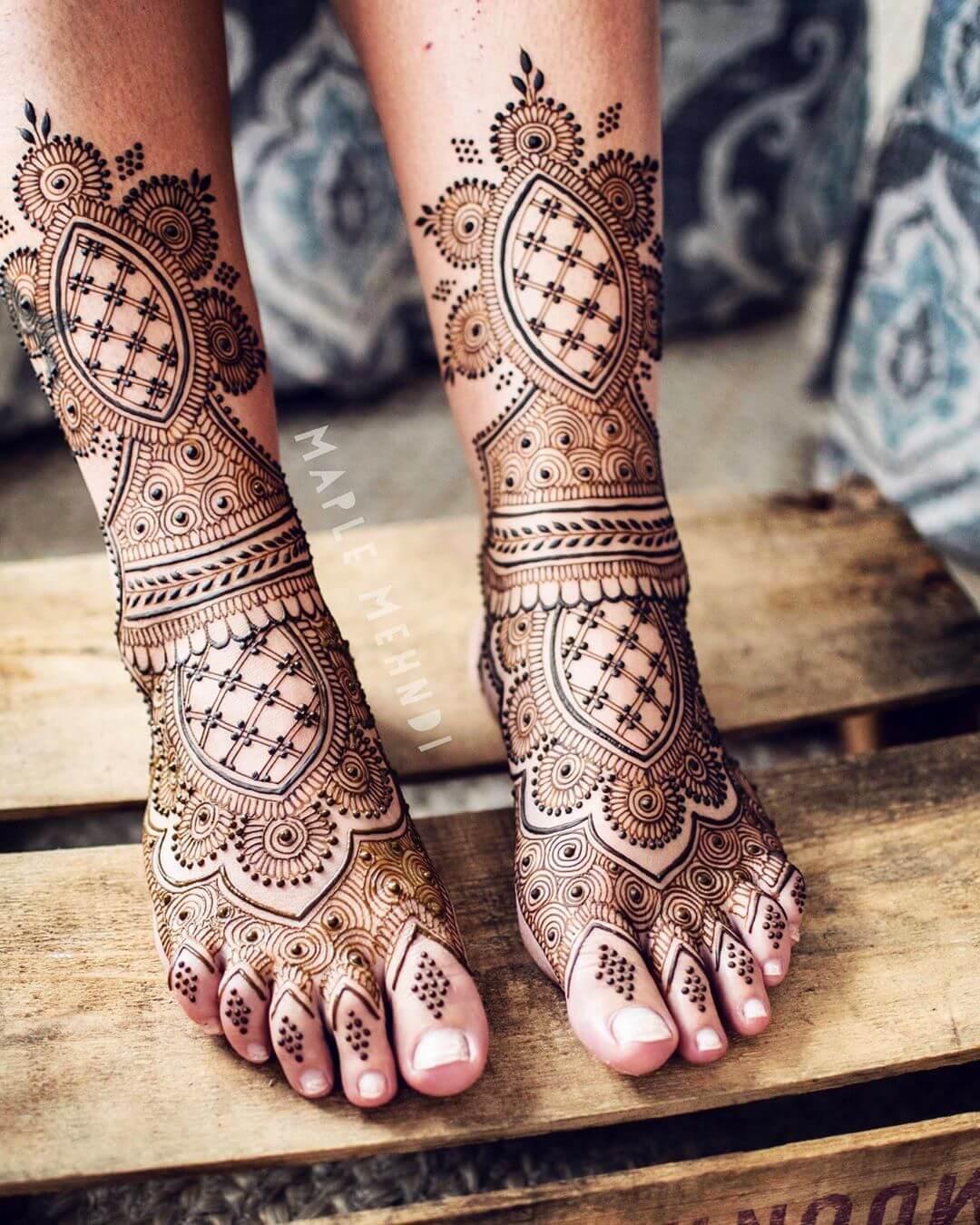 bridal feet mehendi