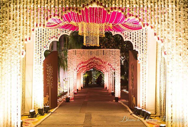 floral entrance decor ideas