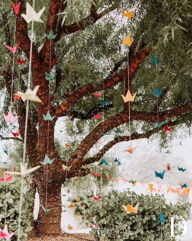 origami mehendi decor ideas