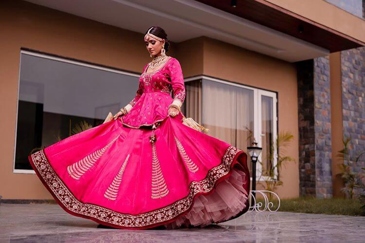 peplum-pink-bridal-lehenga
