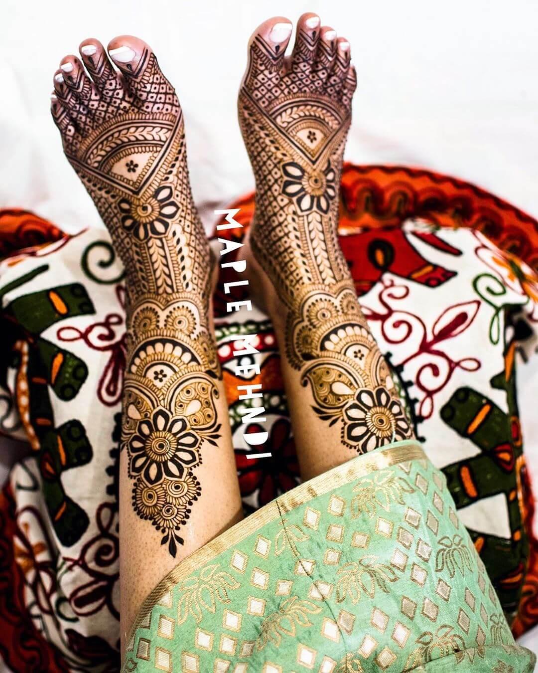 traditional feet mehendi