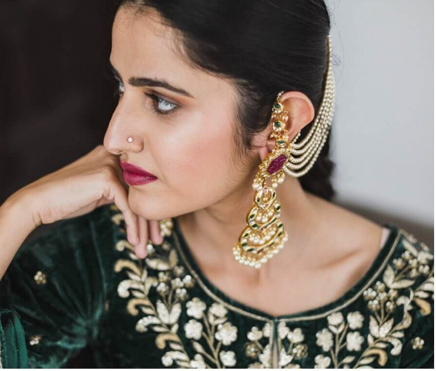 sister of the bride jewellery, waterfall earrings