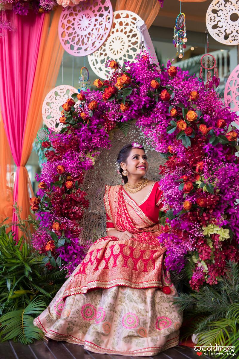 bridal swing chair decoration
