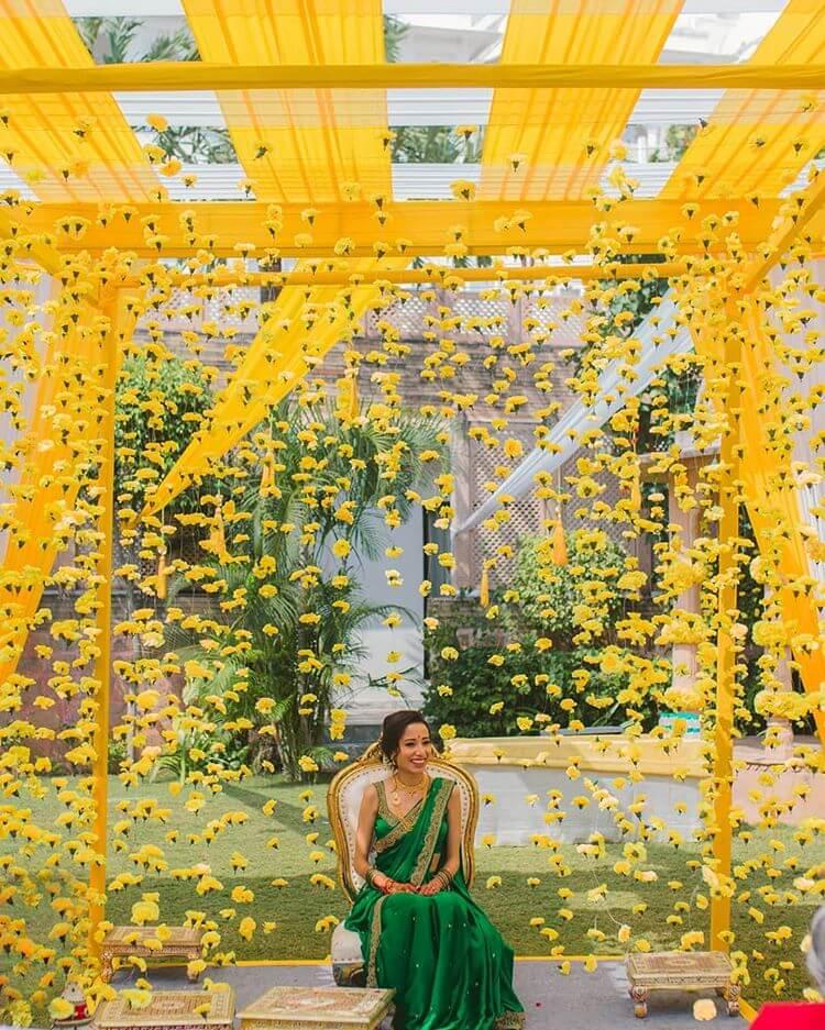 yellow haldi decor ideas