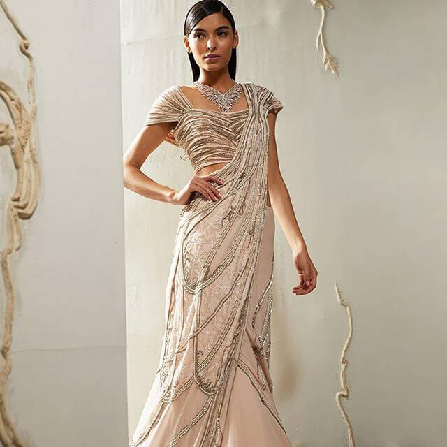cocktail saree trends