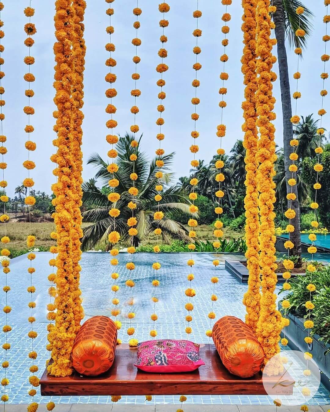 marigold swing decoration