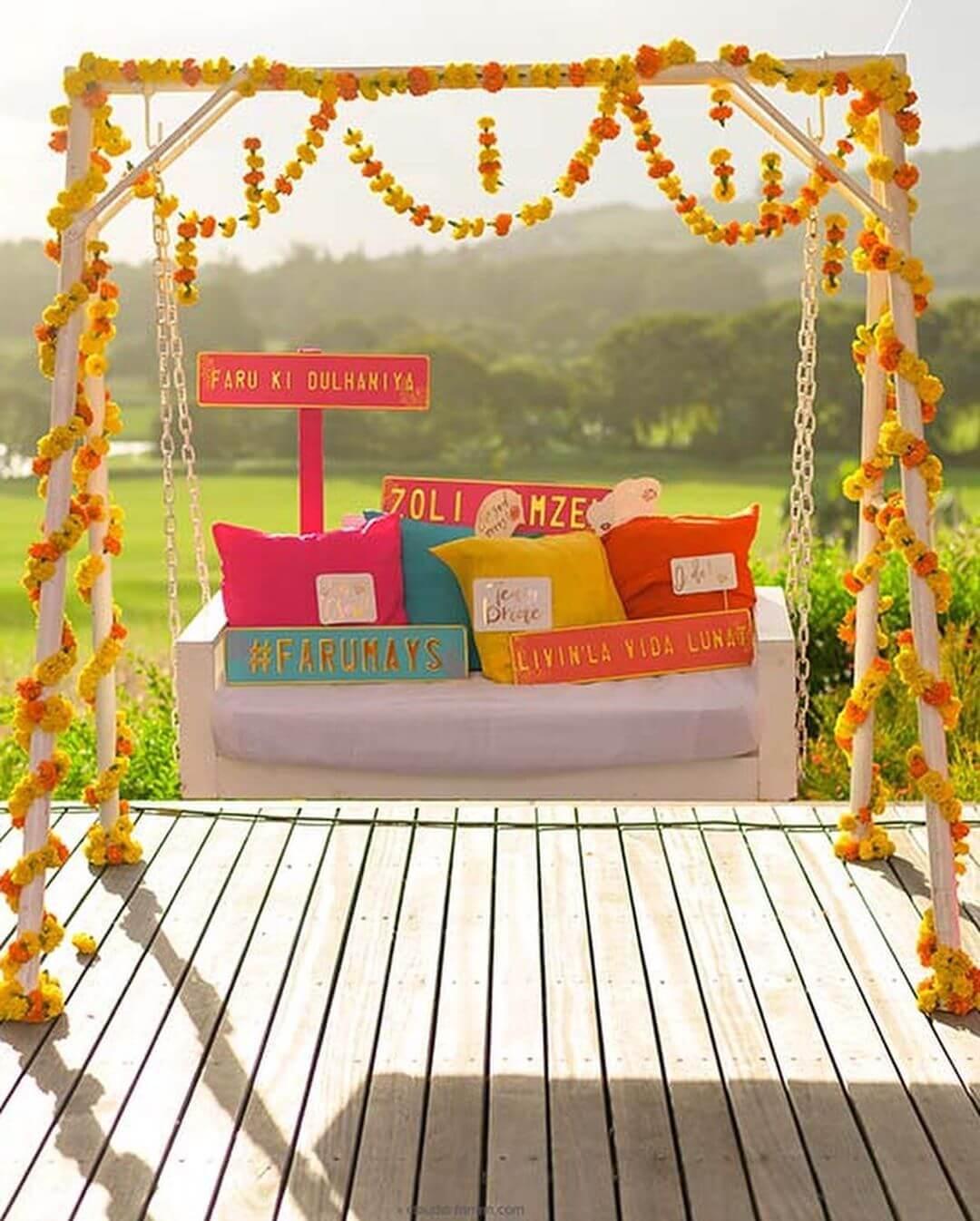 wedding swing decor