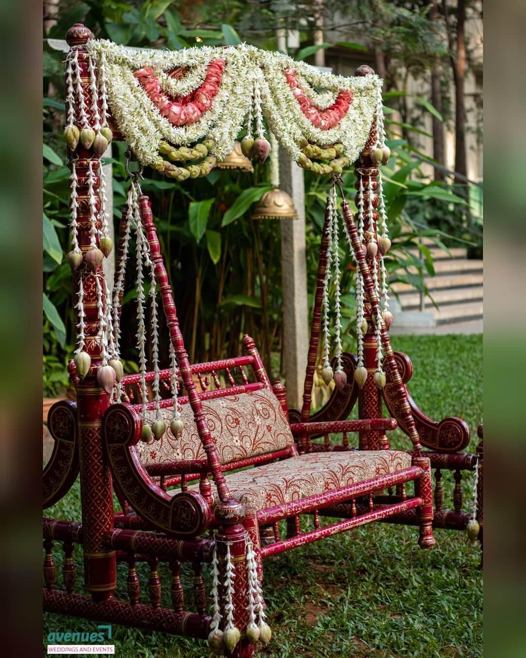 wedding swing decoration
