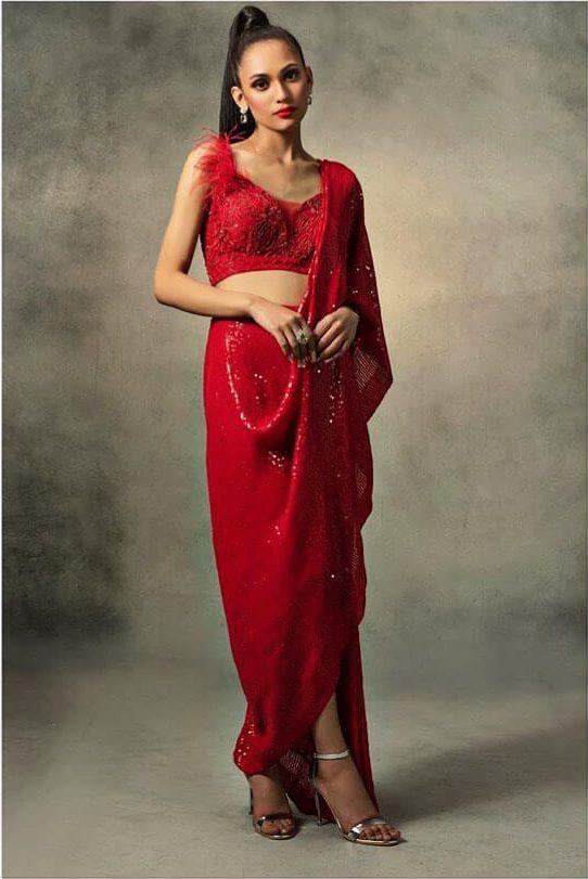 unique saree draping ideas