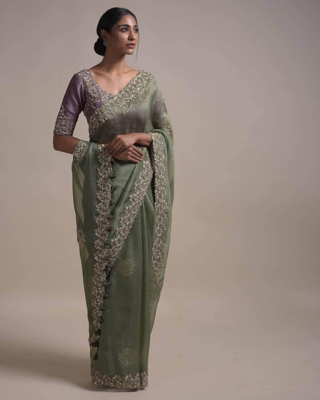 sheer saree