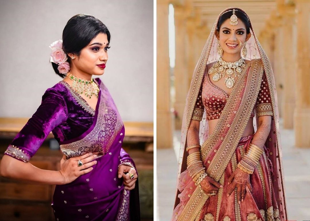 Jazz Up Your Bridal Look With These Trendiest Velvet Blouse Designs