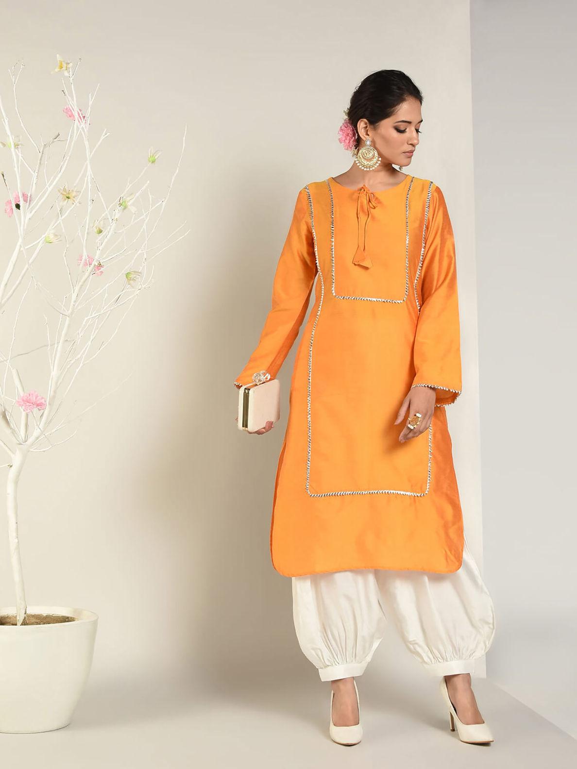 orange color Indian wear