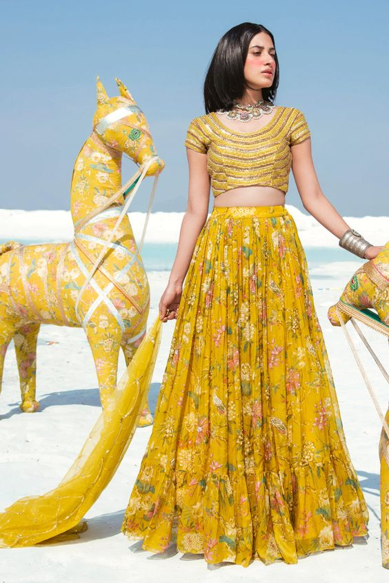 Yellow Indian Outfits