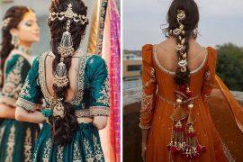 bridal embellished braids