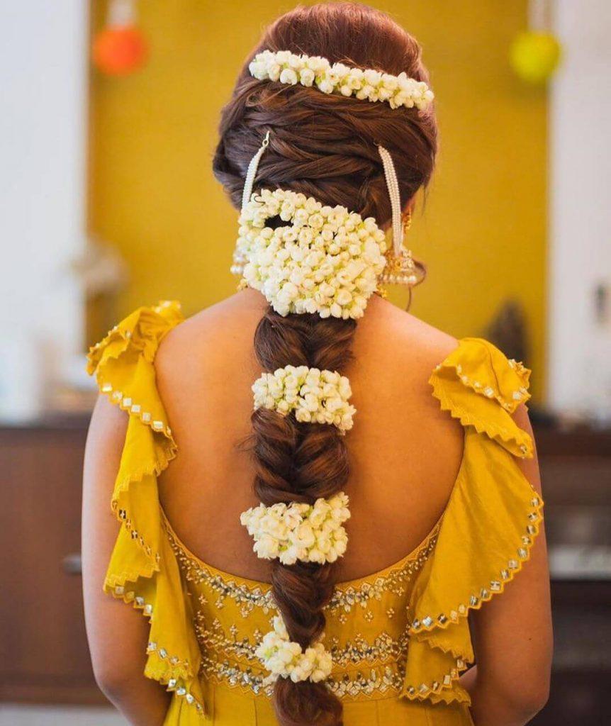 gajra hair style