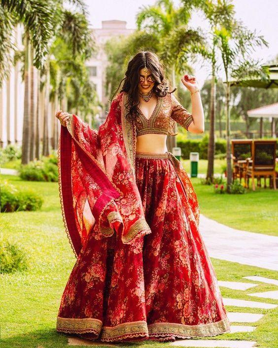 bridal maroon lehenga