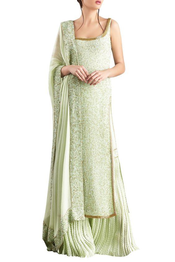 pastel green kurti