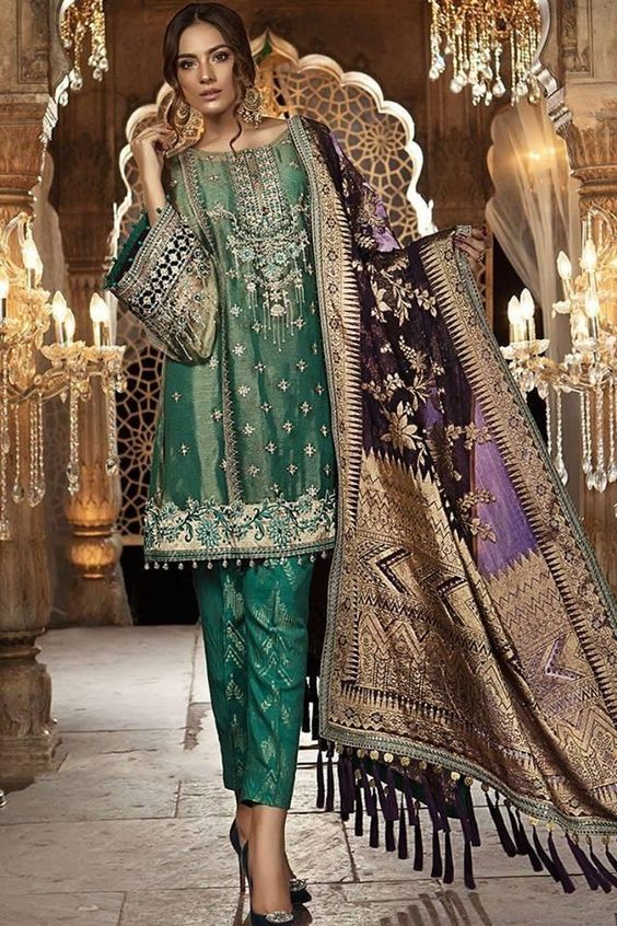 peacock green indian dresses