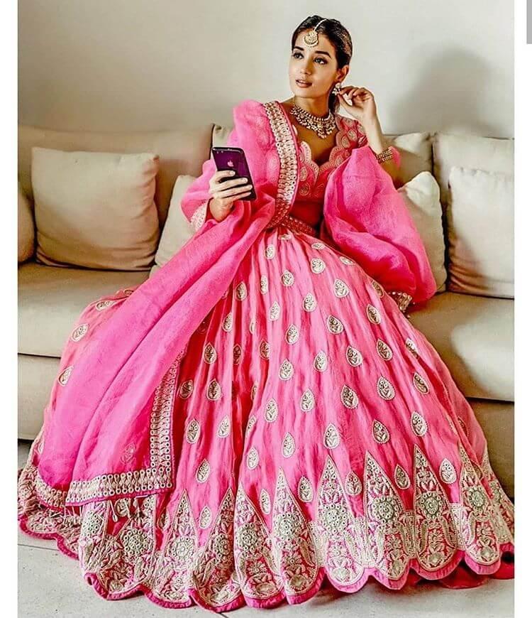 pink bridal lehenga ideas
