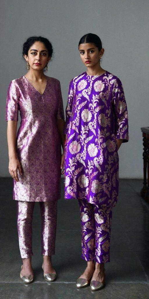 purple indian dresses